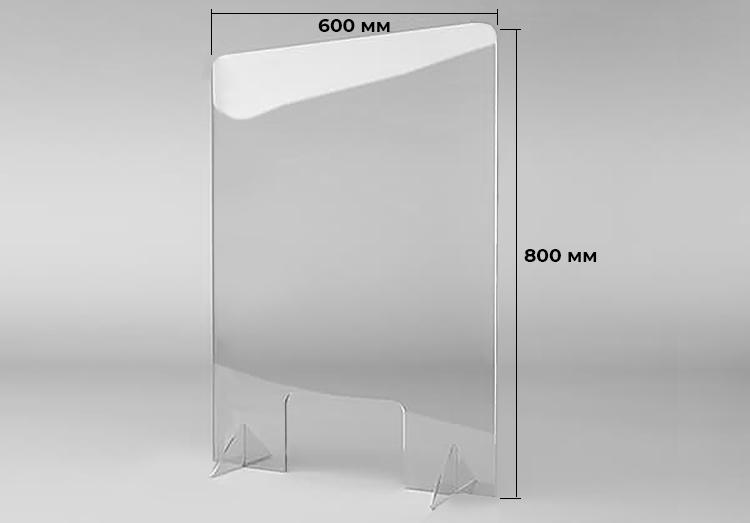 Защитный противовирусный экран 60x80xcм